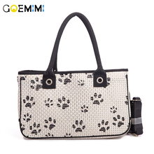 New Arrival Dog Breathable Carrier Paw Design Pet Fashion Outdoor Bag Top Quality Puppy Small dog Travel Handbag