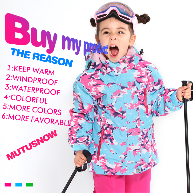 Лыжная куртка для детей, новинка 2019, детская ветрозащитная водонепроницаемая куртка для снега и сноуборда, зимняя куртка для девочек для ка...