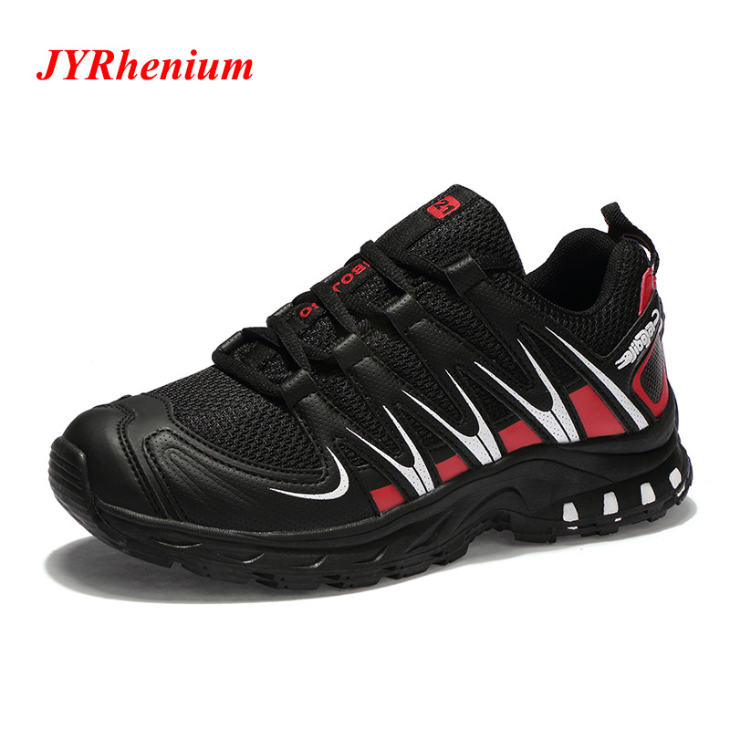JYRhenium Men Trekking Shoes Outdoor Hiking Shoes For Man Climbing Shoes Slip Resistant Sports Sneakers Breathable Shoes