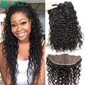 4 Bundles With Frontal Full Lace Frontal Closure With Bundles Curly Wet Wavy Indian Virgin Hair With Frontal Closure Bundles New