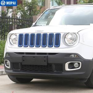 Image 3 - MOPAI ABS سيارة الخارجي إدراج غطاء شبكة تهوية أمامية أعواد تزيين ل Jeep Renegade 2015 2016 سيارة التصميم