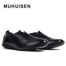 Новый 2017 натуральная кожа мокасины мужские мокасины тапочки природных резиновая подошва вождения loafer острым носом квартиры
