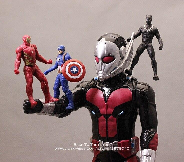 Disney Marvel Avengers Ant Man Action Figure Sitting Posture Model Anime Mini