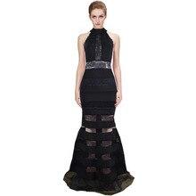 Frauen Lange Verbandkleid, Figurbetontes Kleid Bodenlangen Neueste Cocktail Party Kleid 2180 XS S M L