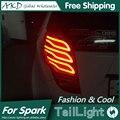 One-Stop Shopping Luzes Da Cauda Styling para Chevrolet Spark 2010-2014 Nova Faísca LED Tail Light Lâmpada Traseira Da DRL + Freio + Parque + Sinal