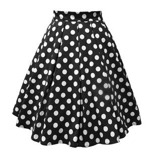 Womail Short Skirts Clothings Print Polka-Dot A-Link Black Casual Ladies White Red Mid-Girl