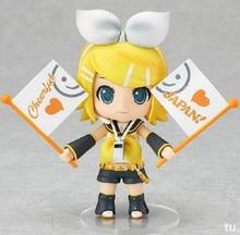 """Mignon 4 """" Nendoroid Vocaloid Hatsune Miku Kagamine Rin en boîte 10 cm PVC Action Figure Collection modèle Toy Doll # 189 KC091"""