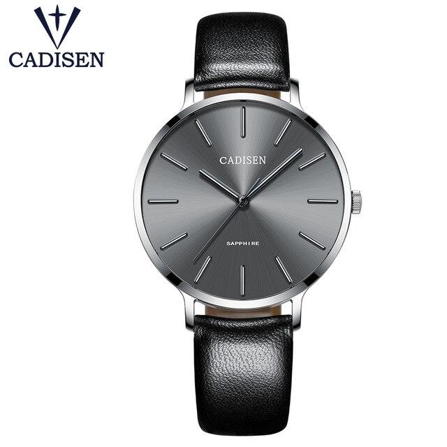 2017 Blue Watch Luxury Brand CADISEN New Geneva Ladies Quartz Wristwatch Ultra Thin Bright Hands Female Clock Relogio Feminino