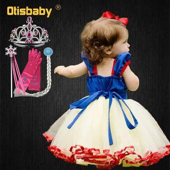 1st Verjaardag Sneeuwwitje Kleding Zomer Meisje Mesh Doopkleedjes Fancy Baby Trouwjurk Baby Party Tutu Pasgeboren Jurk B Timaton Me
