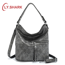 LY.SHARK Women Handbag Genuine Leather Female Bag Crossbody Bag Lasides Shoulder Bag For Women Fashion Handbag Messenger Bag genuine leather women bag chinese wind printed shoulder bag fashion handbag messenger bag
