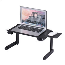 Foldable Laptop Cooler Table Stand Holder Vented Computer Desk Bed Lap Tray 360 Degree Adjustable with Mouse Pad Cooling Fans(China)