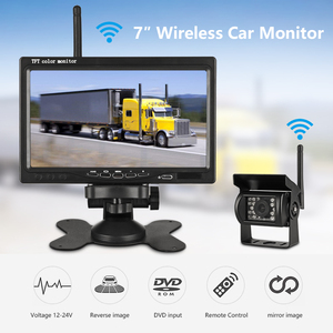 """Image 2 - Jansite 7"""" Wireless Car monitor TFT LCD Car Rear View Monitor Parking Rearview System for Backup Reverse Cameras Support Auto TV"""