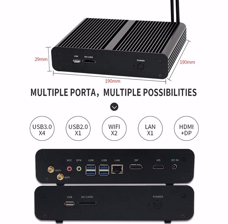 partaker mini pc Gen 6th I7 6500U 6600U-9