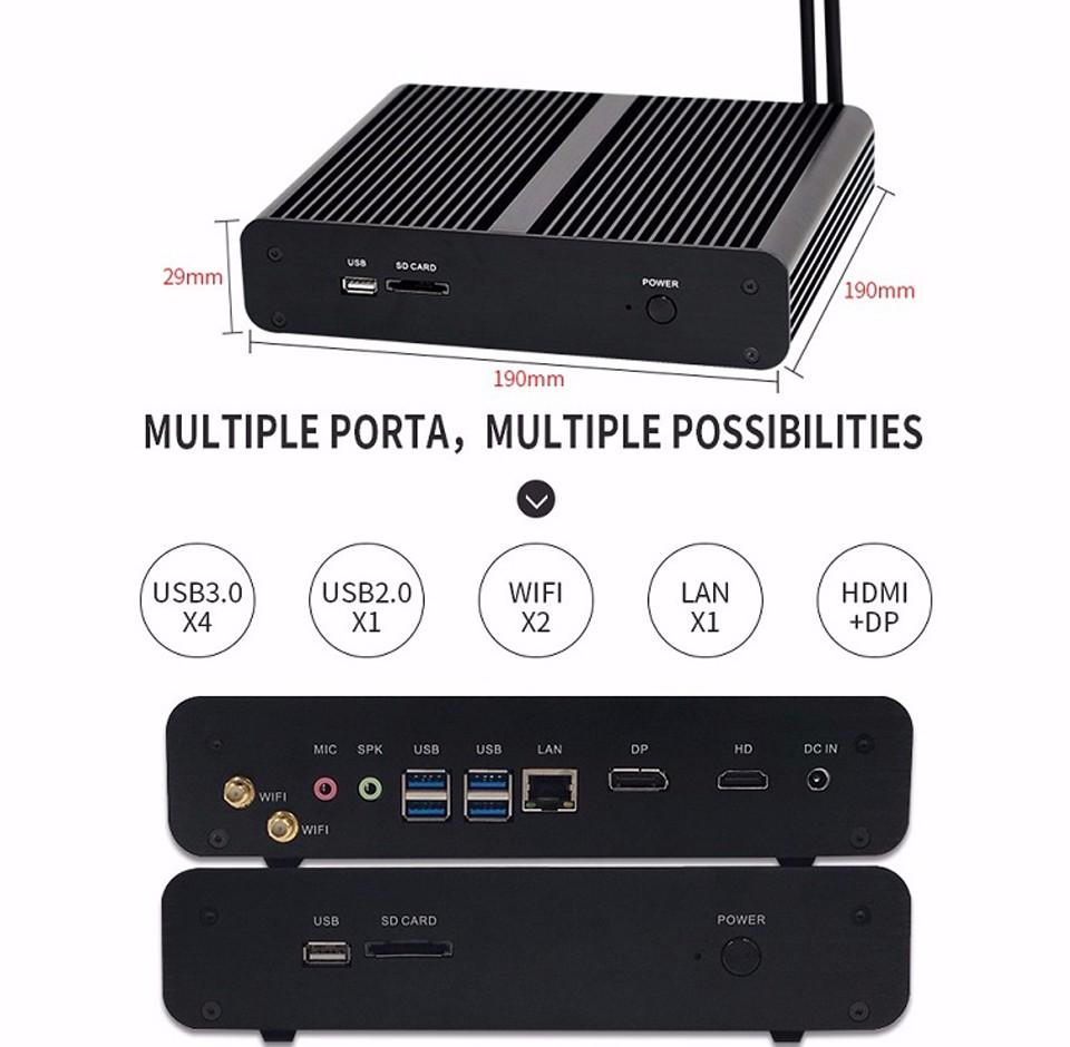 partaker mini pc Gen 6th I7 6500U 6600U-9