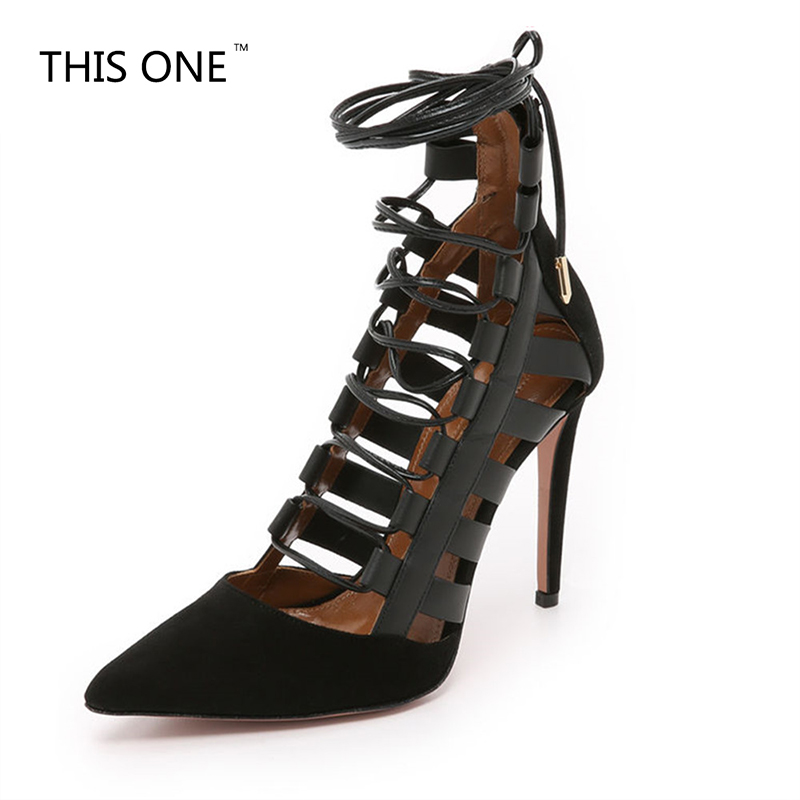 2018 summer shoes for woman lace-up high heels leather gladiator sandals cover heel women sexy ankle strappy lace-up back zipper подвесная люстра mw light замок 249011205