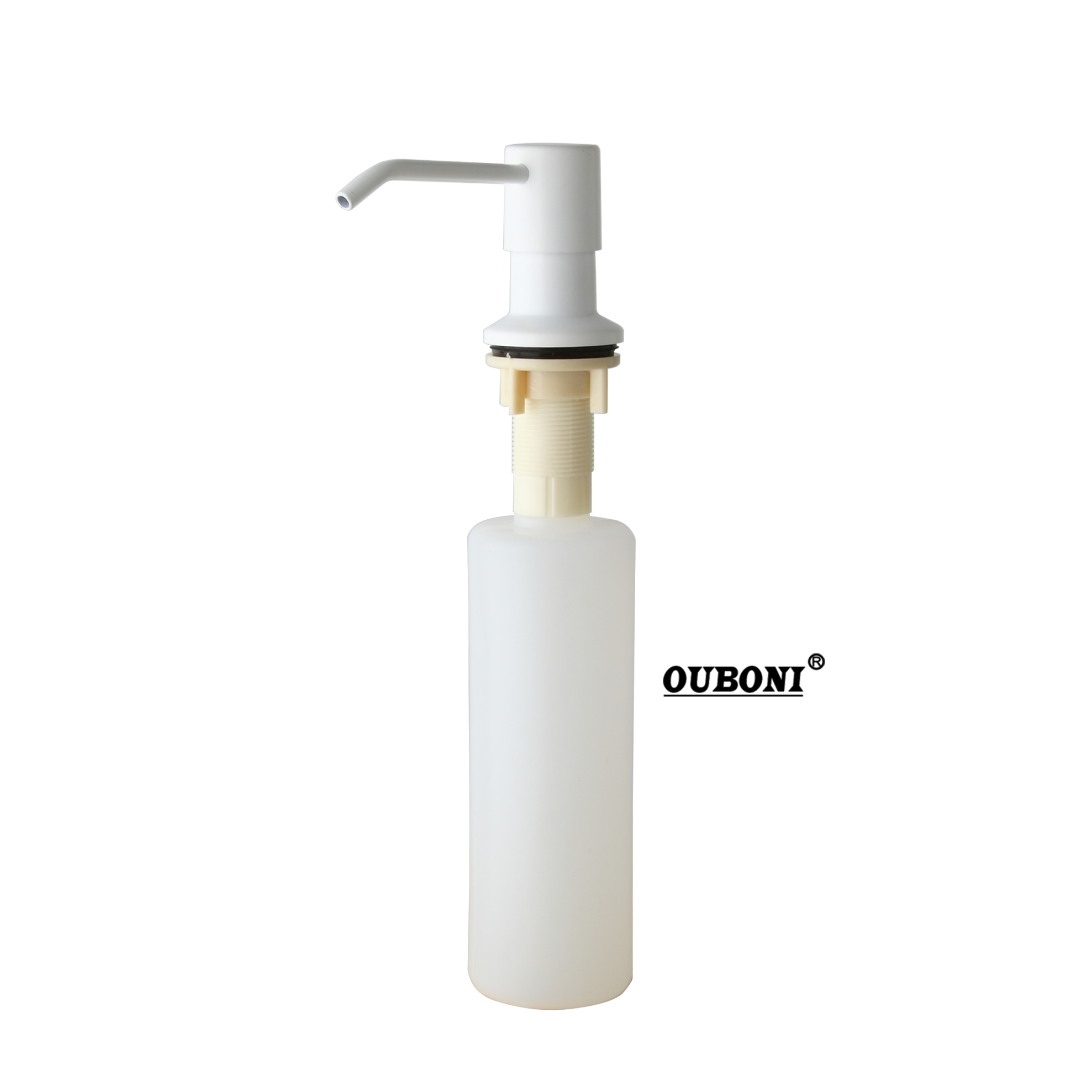 ABS White Painting Soap Dispenser Kitchen Bathroom Sink Faucet Shampoo Shower Lotion New Liquid Soap Dispenser kitchen bathroom sink soap lotion dispenser head stainless steel abs bottle