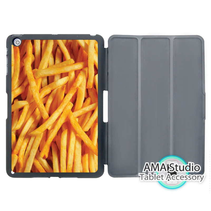 Food French Fries Funny Unique Smart Cover Case For Apple iPad Mini 1 2 3 4 Air Pro 9.7 Stand Folio Wake Up Sleep Function ...