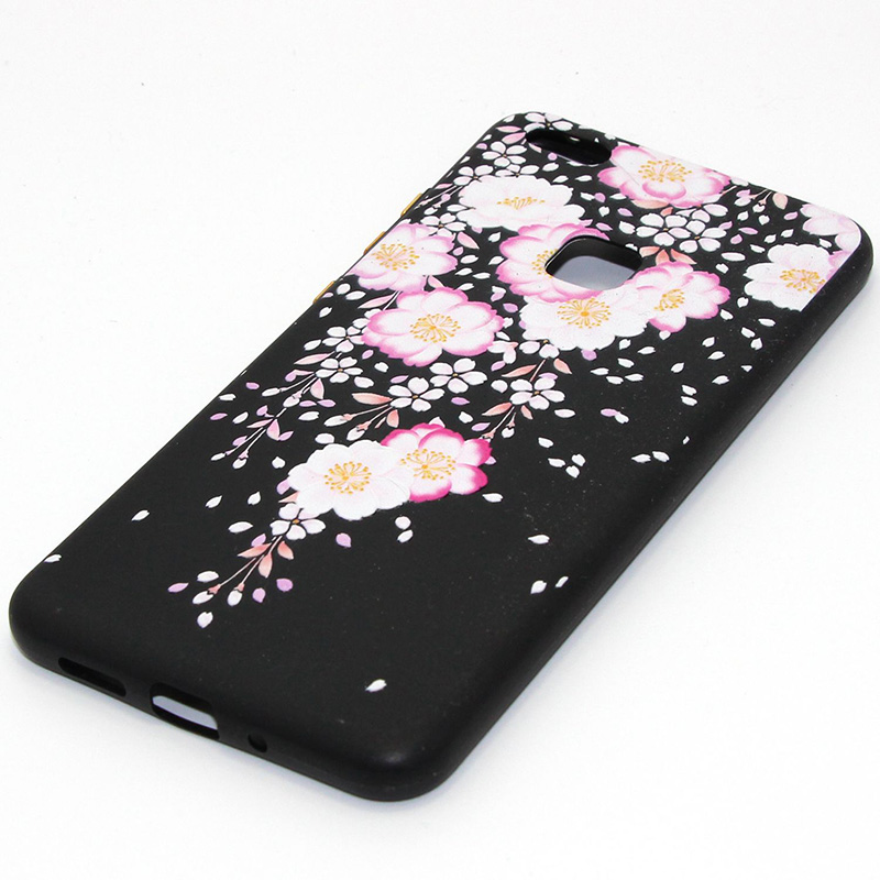 3D Relief flower silicone huawei P10 lite (43)
