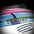 4 PCS DIY Car styling Novo Acrílico hatchback e remetente especial chuva tampa do caso de escudo para Ford Fiesta 2009-14 parte acessórios