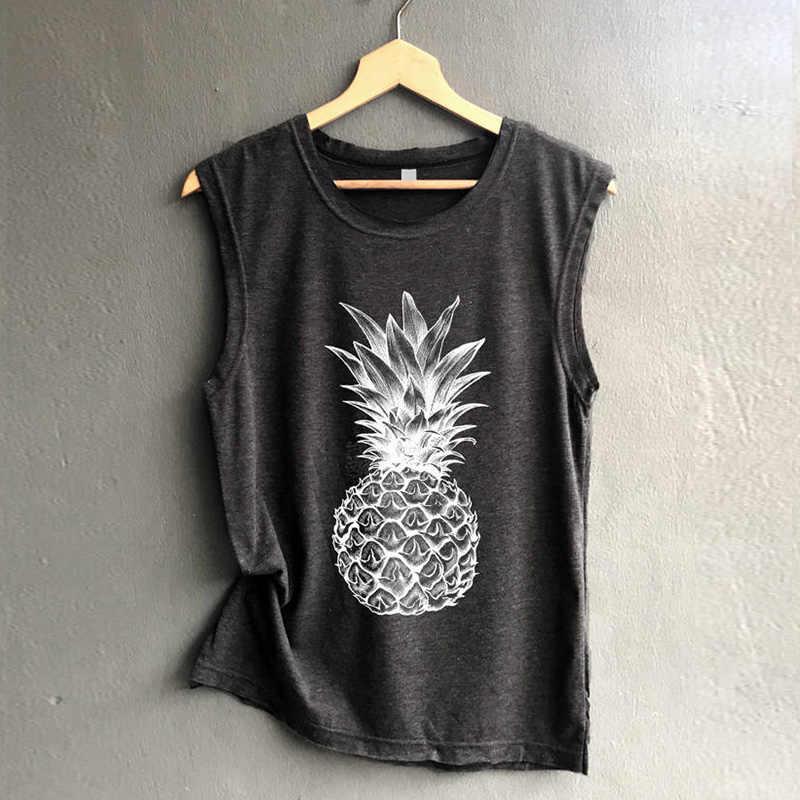 a0458b4d2ac women t-shirt pineapple fruit letter casual printed graphic female tumblr  tee tshirt fashion tops