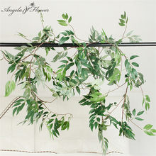 170cm saules plantes artificielles feuille bricolage mariage plafond fleur vigne faux saule rotin maison jardin noël décor glycine