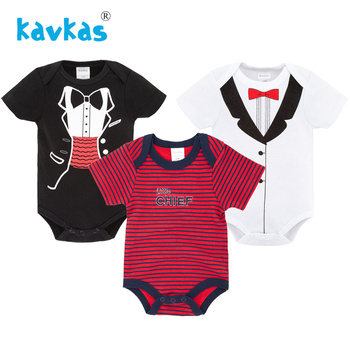 Kavkas Summer Boys Baby Clothing Short Sleeved Jumpsuit Newborn Romper Baby Boy Clothes infant 0-12M Baby Rompers Roupa De