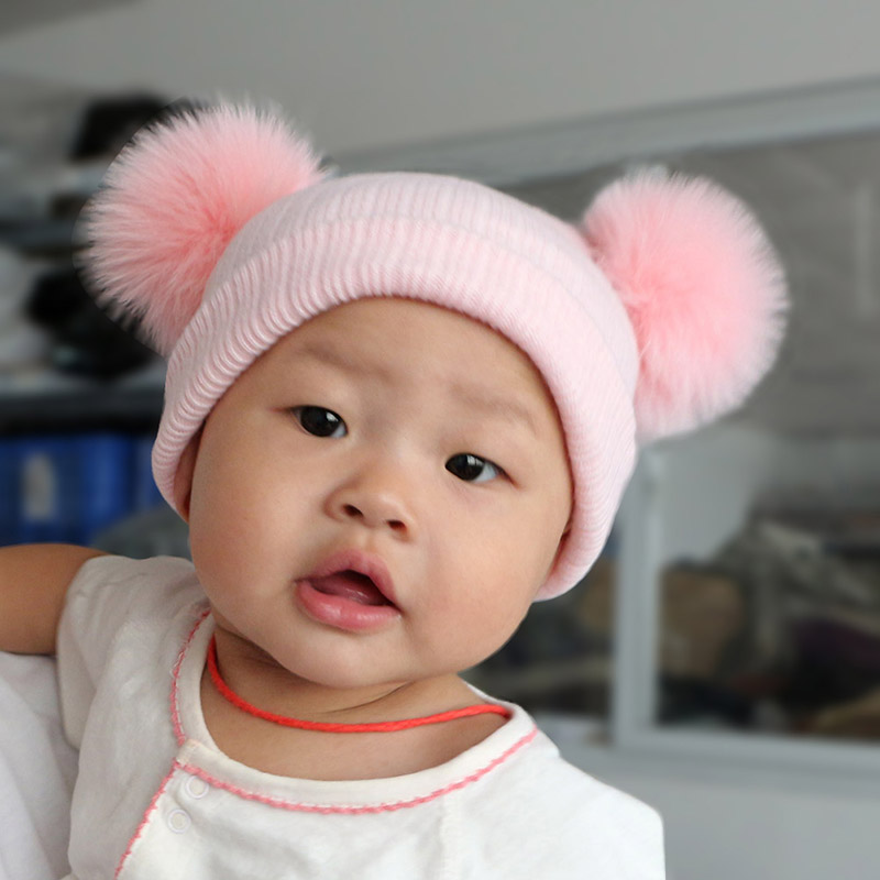 2016 Baru Lucu Bayi Perempuan Laki-laki Beanie Cotton Musim Dingin - Aksesori pakaian - Foto 4