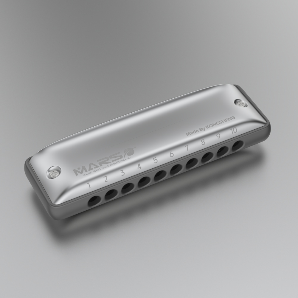KONGSHENG M1MARS Round Hole 10-hole Diatonic Harmonica Plastic Aluminium Comb Major Paddy Natural Minor Tuning