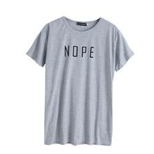 1c6b84464d2c 2017 Harajuku Summer T Shirt Women Tops NOPE Letter Print Tee Shirt Femme T- shirt Casual tshirt O-neck Solid Short Sleeve Top