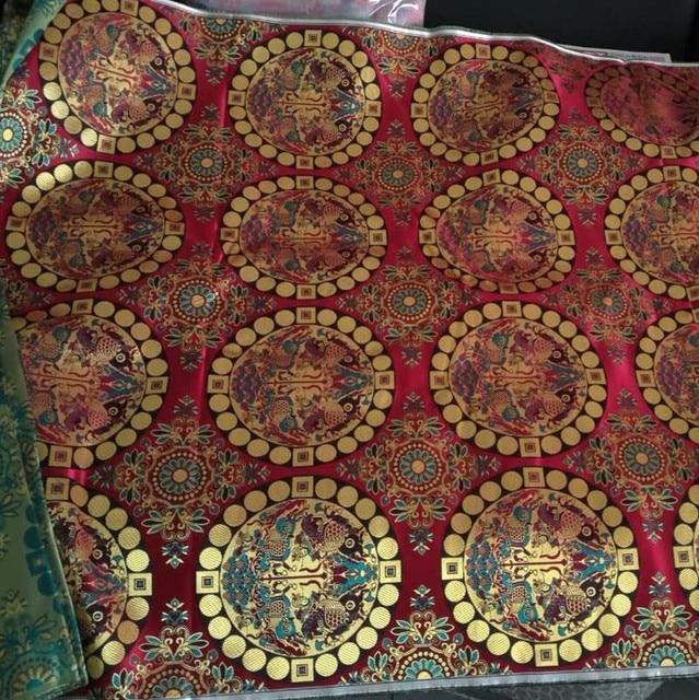 Aliexpress.com : Buy Costume green Silk Brocade Jacquard COS ... : beautiful quilt fabrics - Adamdwight.com