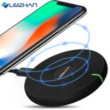 LEIZHAN Wireless Charger for iPhone X 8 Plus USB Wireless Charging for Samsung Galaxy S8 S9 S7 Edge Qi USB Wireless Charger(China)