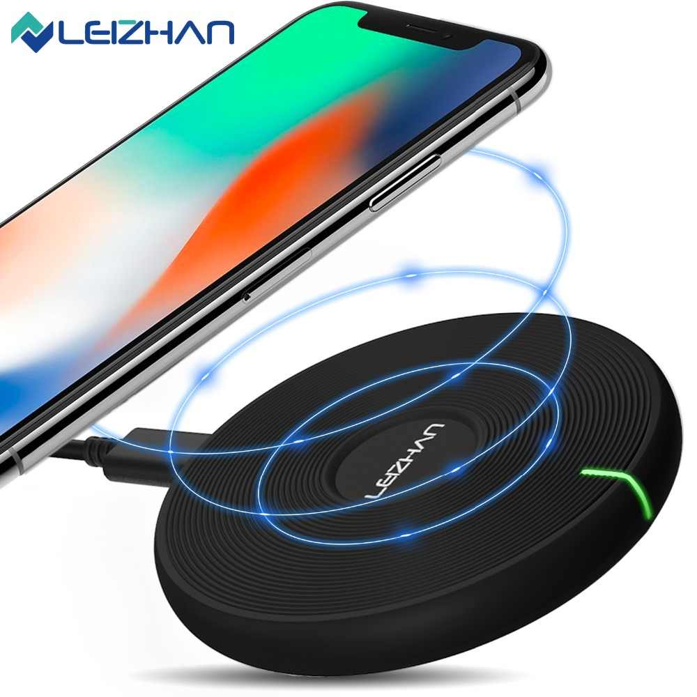 Leizhan Charger Nirkabel untuk iPhone X 8 Plus USB Pengisian Nirkabel untuk Samsung Galaxy S8 S9 S7 Edge Qi USB charger Nirkabel