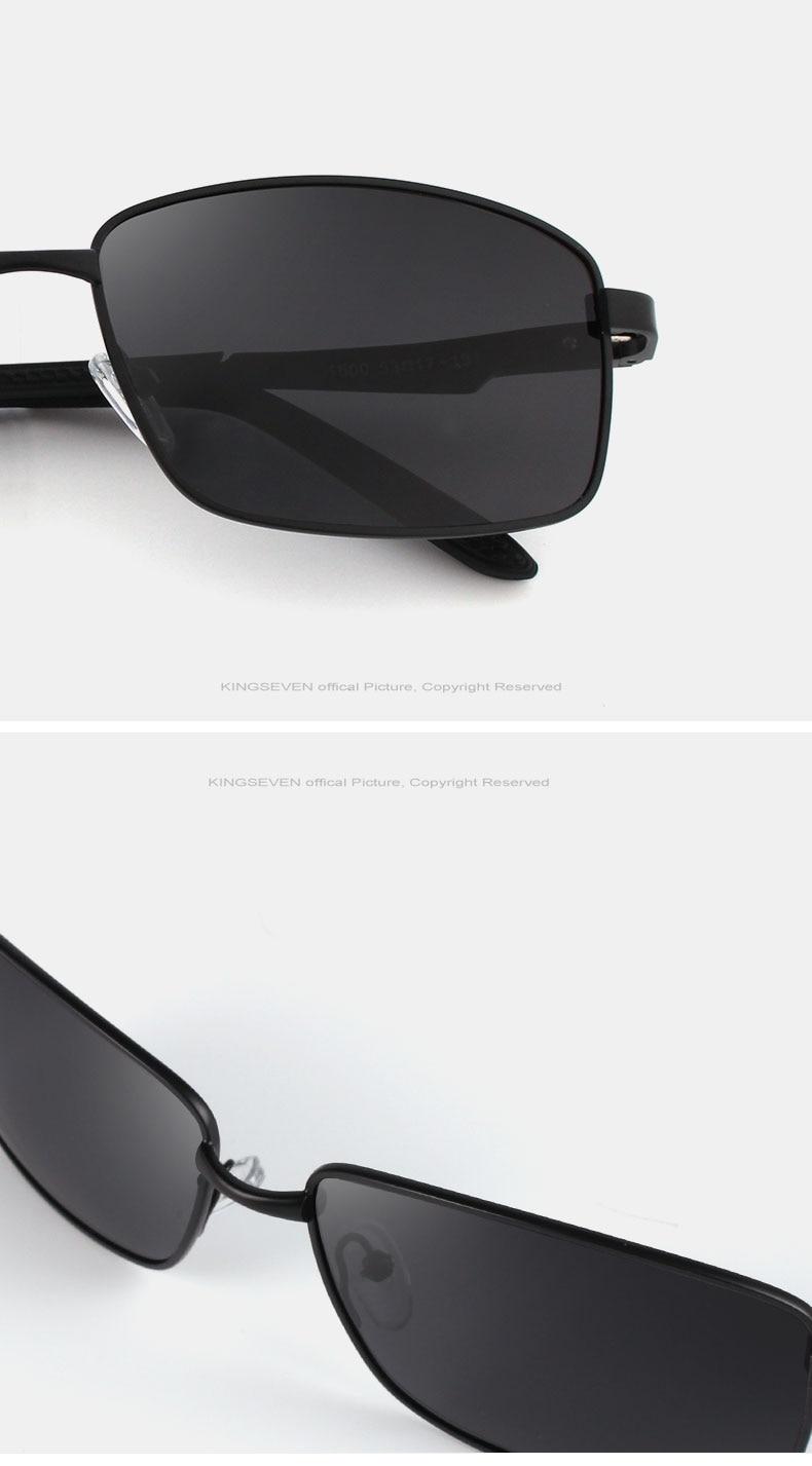 KINGSEVE Brand rectangular sunglasses male and female neutral sunglasses retro sunglasses with polarized lenses uv 400 6