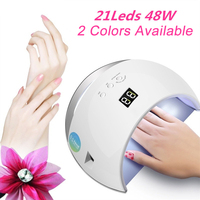 48W UV Nail Dryer Auto Sensor Portable UV Lamp For Drying Low Heat Model Double Power Fast Manicure Nail Led Lamp 100 240V
