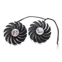 2pcs Lot 95mm Computer Radiator Cooler Fans RX470 Video Card Cooling Fan For MSI RX570 RX