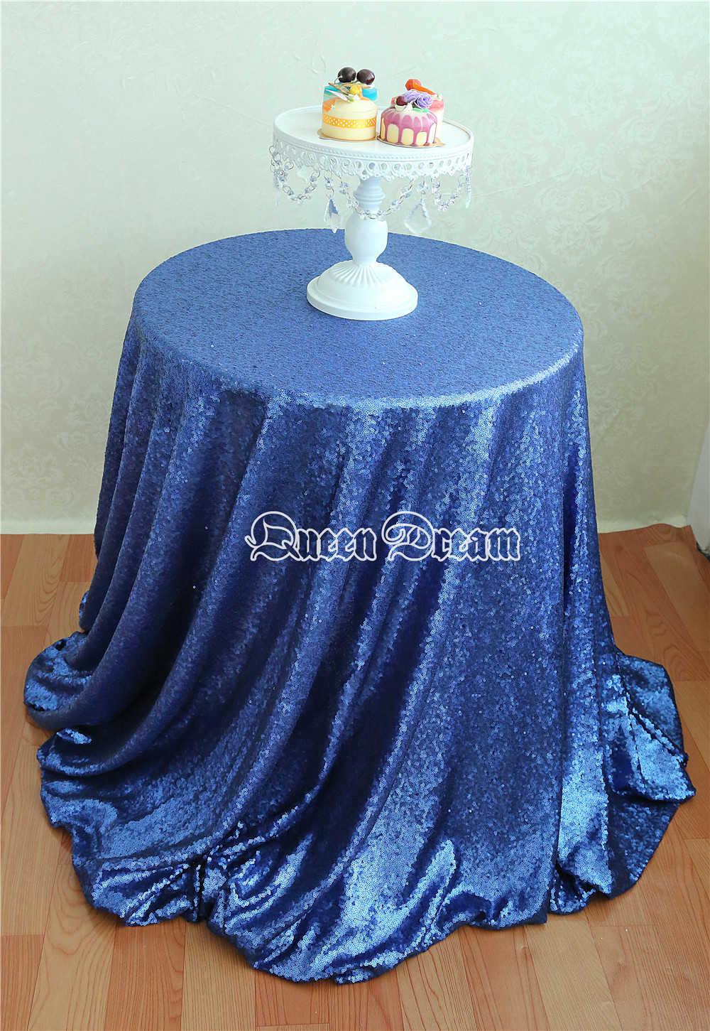 50 Inch Round Wedding Decoration Sequin Table Overlays Elegant Sequin Table  For Wedding Decoration