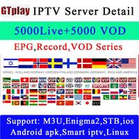 IPTV Subscription Arabic Europe French Italian Stream Live TV Code IPTV 1800 Channels And 2000 Films IP TV for Android TV Box