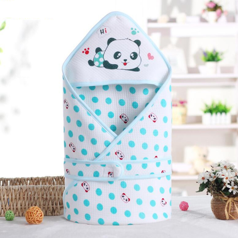 Cartoon Panda Envelopes For Newborns Wrap Baby Blanket Swaddling Cotton Baby Sleeping Bag 3 Colors Infant Sleepsacks 80*80 Cm