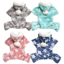 Fleece Pet Clothes Flannel Fabric Dog Coat Autumn Winter Hoodies Warm Cat Small Chihuahua Ropa Perro