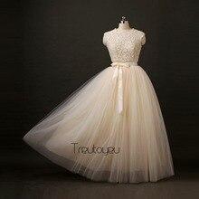 100% Real Photos 7 Layers 100cm Maxi Long Women Skirts Ladies Tulle Skirt American Apparel Wedding Skirt Faldas Faldas Jupe Saia