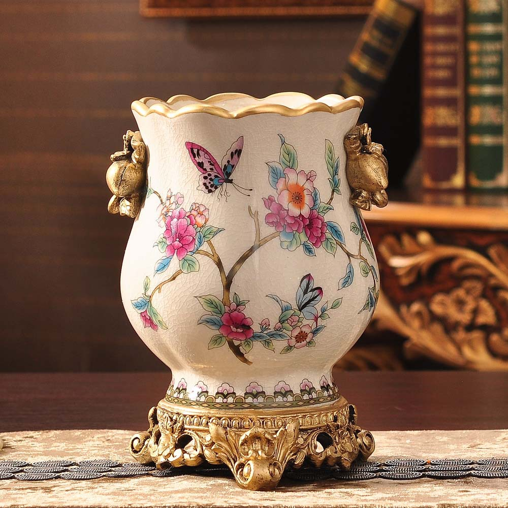 flower vase Ceramic small flower bottle decoration garden ice crackle household ornaments flower vase