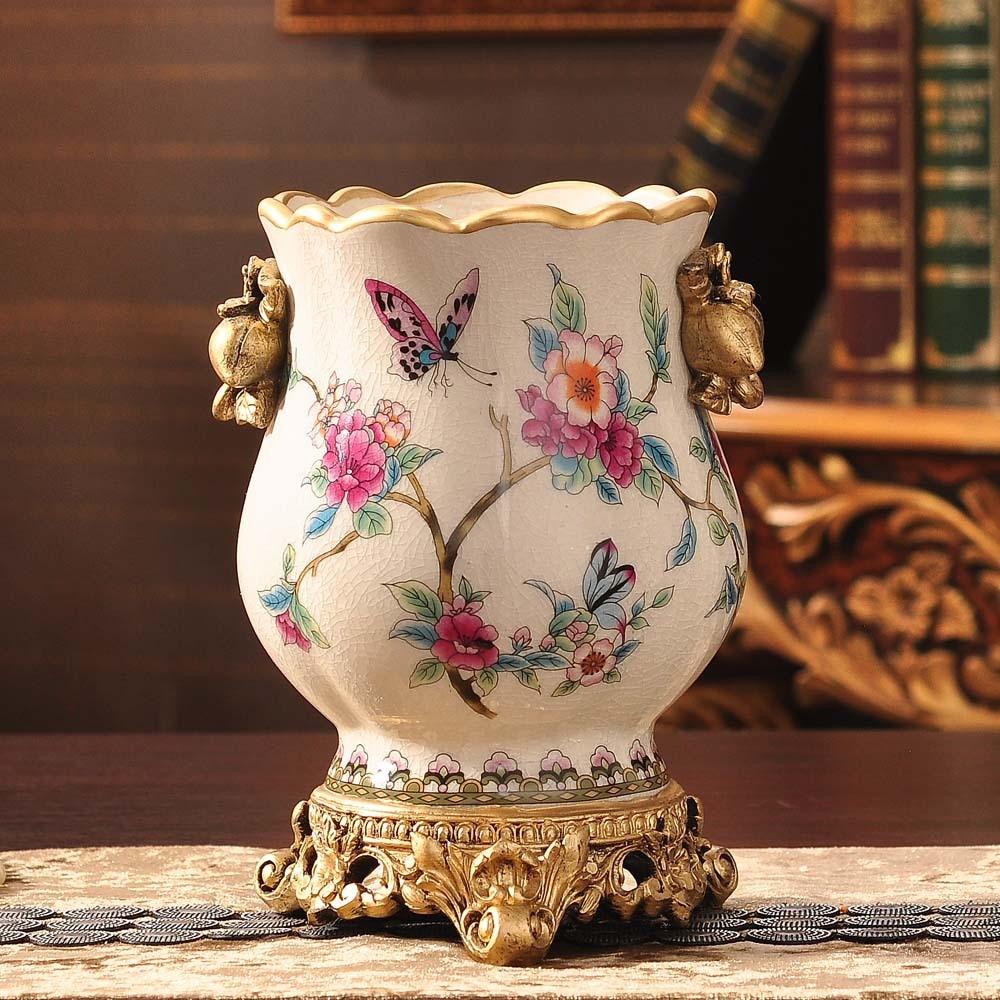 flower vase Ceramic small flower bottle decoration garden ...