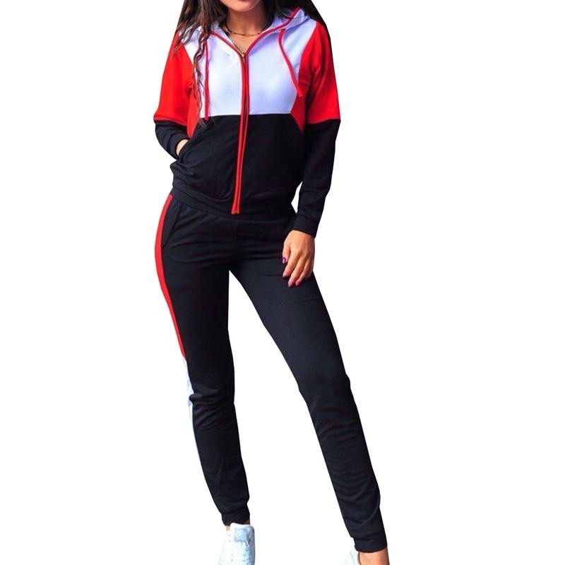 ZOGAA Women Plus Size Tracksuit Two Piece Set Casual Sport Suit Womens 2 Piece Sets Sportswear 2018 Zipper Tracksuit Female