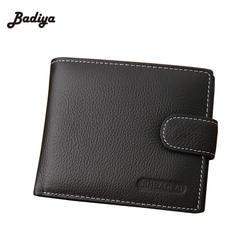 Известный бренд натуральной кожи бумажник моды Для мужчин Кошельки Hasp дизайн кошельки с монета карман кошелек держатель для карт для Для