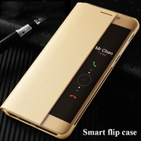 For Huawei P10 Case PU Leather Flip Cover Smart Window View Phone Cases For Huawei P10