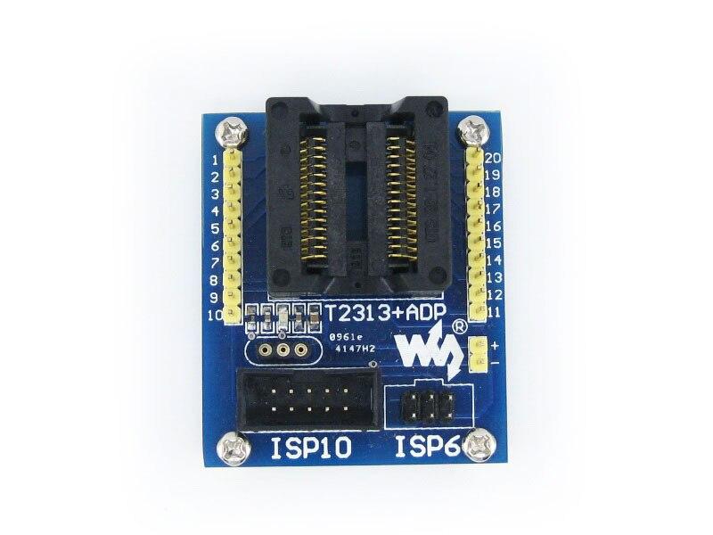Parts ATtiny2313 ATtiny4313 AVR SOIC20 (300 mil) ISP 10-pin/6-pin ISP Programming Adapter Test Socket Freeshipping бесплатная доставка diy электронные opa2313idr ic операционные усилители gp rrio 1 мгц dl 8 soic 2313 opa2313 10 шт