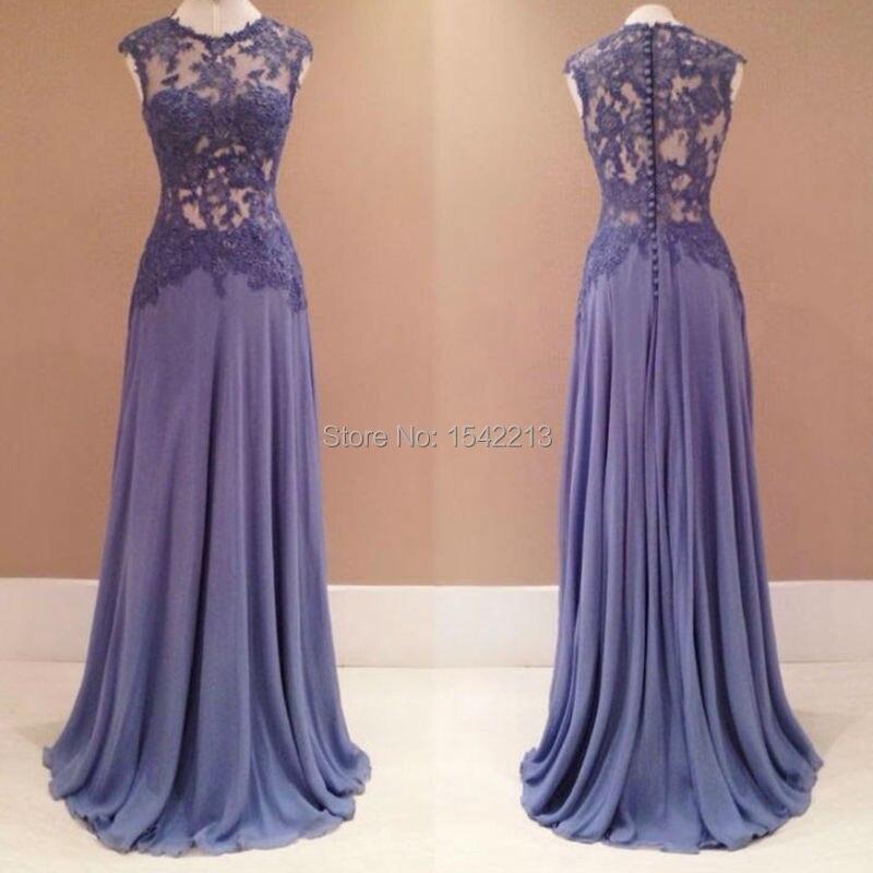 Aliexpress.com : Buy Custom Made Light Purple Lace Dress Formal ...