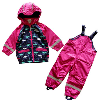 kids/toddler/baby girls clothes, baby windproof suit, waterproof clothing set, overalls, raincoat,  74 to 92 цена 2017