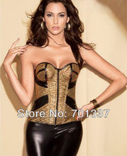 4 Colors Sexy lingerie  Bustiers & Corsets Corset Fancy Dress party wear Gold Or Silver W1330 S–XXL