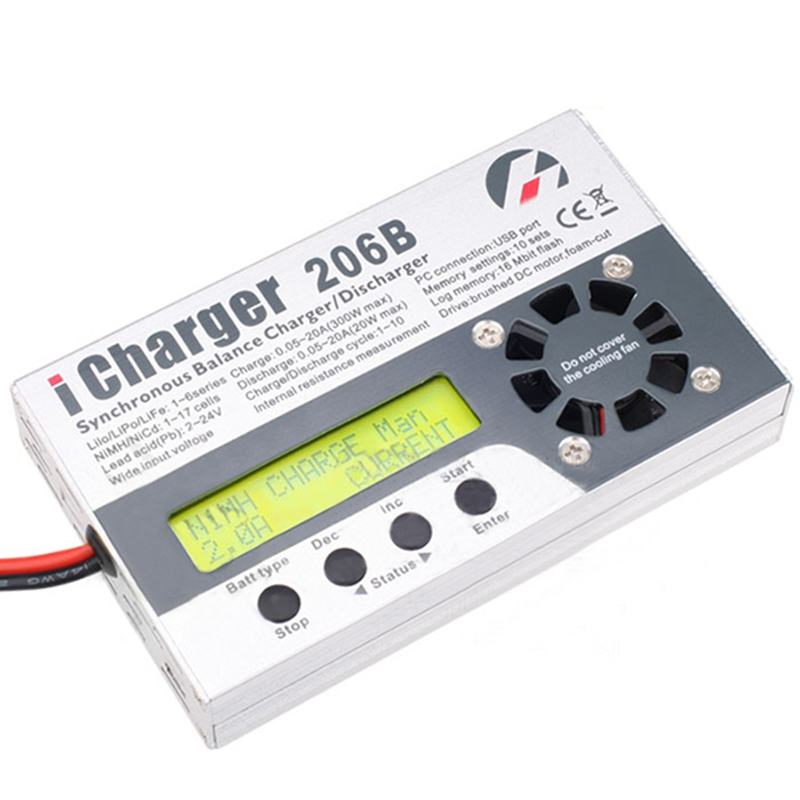 New Arrival  iCharger 206B 20A 300W 8S Battery Balance Charger Discharger icharger 4010duo multi chemistry dc battery charger 10s 40a 2000w
